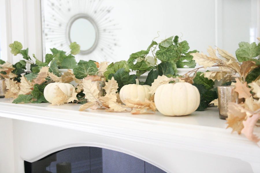 Fall decor, autumn decor, seasonal decor, interior design