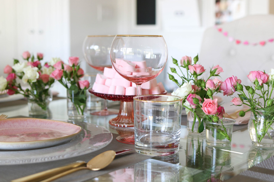 a simple and elegant valentine u2019s day tablescape