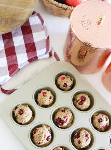 Healthified Cranberry Orange Muffins