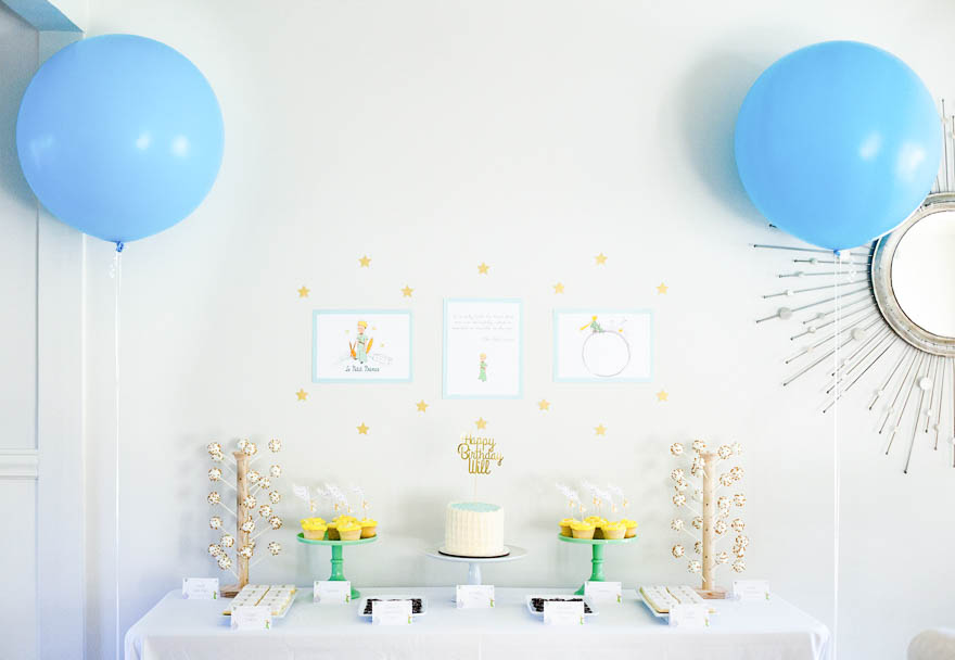 I Kept The Theme Mainly To Dessert Table Food Labels And A Photo Booth Or Rather Le Pe Prince First Birthday