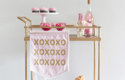 Simple Valentine's Day Bar Cart