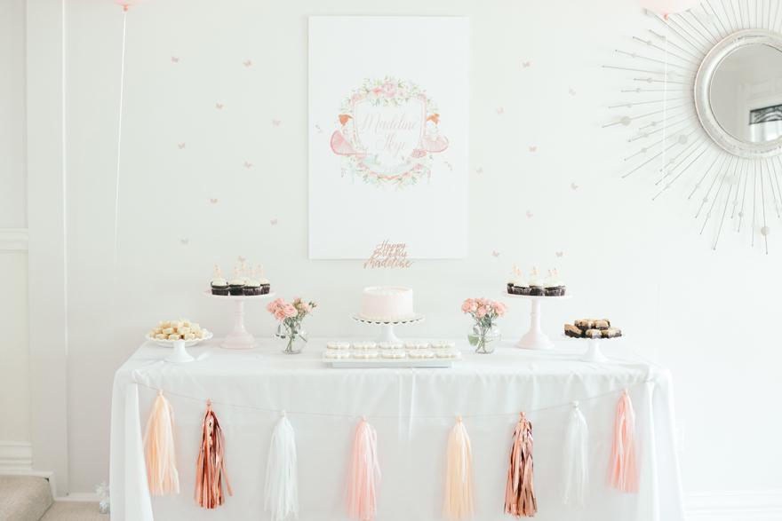 409f37c2dcc Floral ballerina birthday party