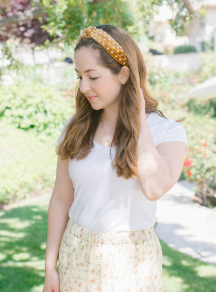 DIY Pearl Knotted Headband