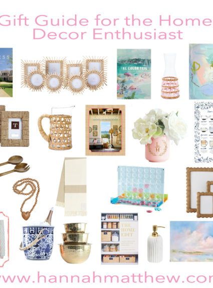 Gift Guide for the Home Decor Enthusiast